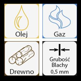 Kwasoodporne do oleju opałowego, gazu, drewna