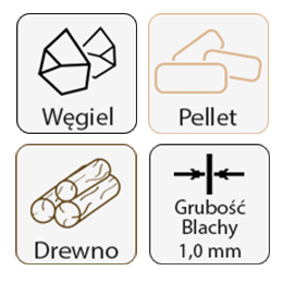 Żaroodporne 1,0 mm do pelletu, drewna, węgla